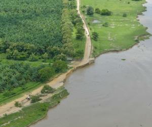 Situación actual de la erosión de la vía.