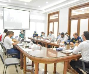 Comité de Gestión del Riesgo de este domingo, en el que se definieron soluciones para la erosión en Salamina.