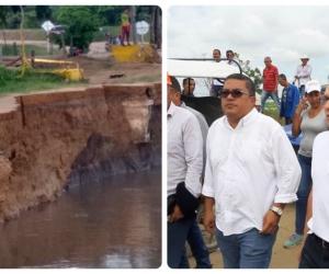 Carlos Caicedo estuvo en noviembre en Salamina y se comprometió a encontrar una solución.