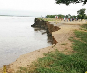 Erosión en la vía Salamina - El Piñón.