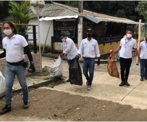 Essmar, Dadsa y Udep, recogieron más de 3 toneladas de material aprovechable en Minca.