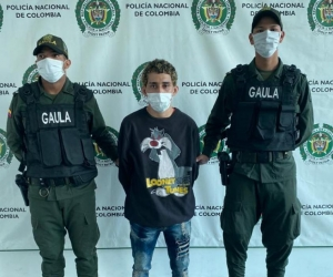Carlos Alberto Camaño González cuando fue capturado por la Policía.