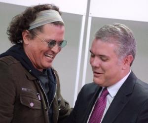 Carlos Vives y presidente Iván Duque.