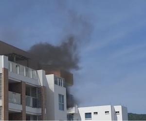 Apartamento donde se presenta el incendio.