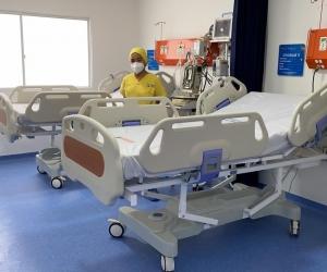 Estas son las nuevas camas UCI inauguradas en Fundación.