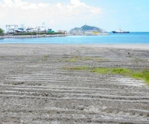 Playa oxigenada en Santa Marta.