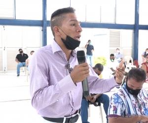 El joven Juan de Dios Jamaica Calderón durante su intervención en el evento.