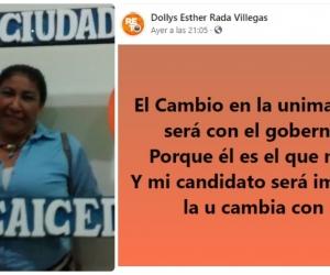 Dollys Rada Villegas promueve reuniones para sumar votos en pro de un candidato a la rectoría de la Unimag.