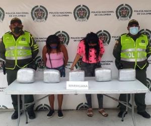 Rocío Isabel Almeida San Juan y Rusmery María Silvera Mendoza, capturadas en Tasajera.