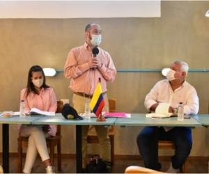 El encuentro contó con los funcionarios nacionales y la participación de siete alcaldes del Magdalena.