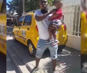 Momento de tensión en los que Marlon Lara amenazaba con matar a su hijo.