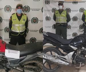 Las motos fueron recuperadas en los municipios de Fundación y Plato.