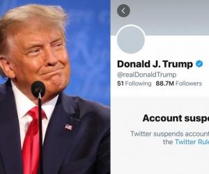 Donald Trump tiene suspendida su cuenta de Twitter.