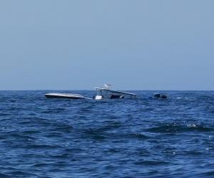 Este es el momento en el que la embarcación está naufragando.