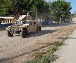Al corregimiento llegaron vehículos del Batallón de Movilidad de Infantería de Marina No.1.
