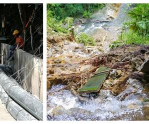 El arreglo se debe a una reparación del canal de río Piedras que llega a la PTAP Mamatoco.