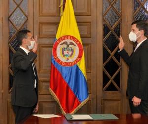 Juan Pablo Díaz Granados durante el acto de posesión en su cargo de viceministro.