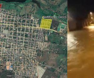 Mapa de las zonas afectadas - inundaciones en Pivijay.