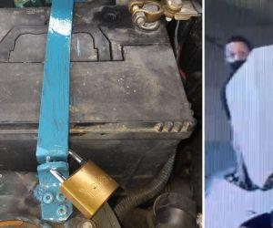 El ingenio contra los robos de baterías de carro en Santa Marta.