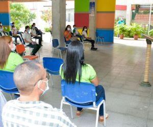 El acto central de este regreso a las aulas tuvo lugar en la IED La Industrial