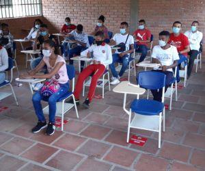 La cartera de Educación indicó que son cerca de 70 mil estudiantes que volvieron a las aulas en el departamento.