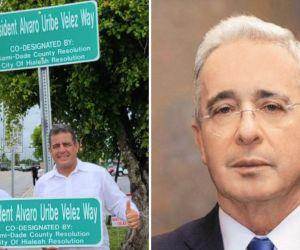 Nueva calle estadounidense bautizada en honor al expresidente de Colombia.