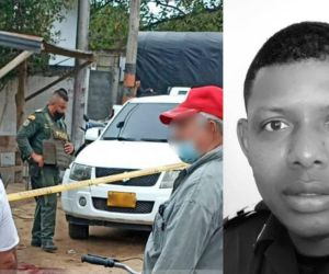 Leider Manjarrez Salas, policía asesinado en Planeta Rica.