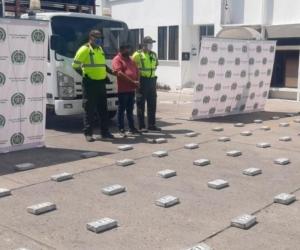 Cocaína incautada por la Policía en el departamento de Sucre.