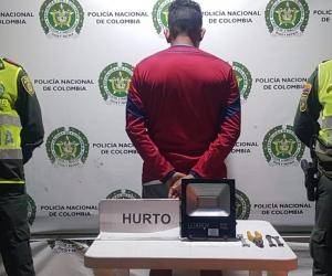Capturado en flagrancia por la policía de Santa Marta.