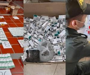 Medicamentos falsificados incautados.