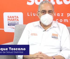 Secretario de Salud del Distrito, Henrique Toscano Salas.