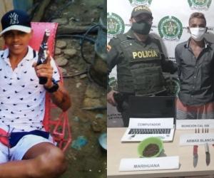 El sujeto capturado fue identificado como Edwin Barros Mendoza, de 20 años.