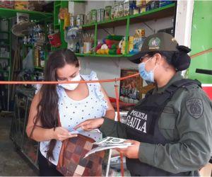 Gaula del Magdalena realiza 'tour' para prevenir la extorsión y el secuestro.