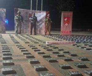 El Ejército Nacional incautó el estupefaciente.