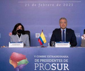 Apertura de la Quinta Reunión Extraordinaria de Presidentes del Foro para el Progreso de América del Sur.