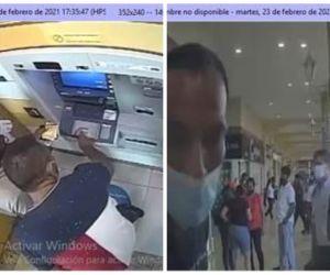 Capturas de las cámaras en los cajeros donde los 'Venecos' cometían los delitos informáticos.