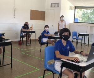 Así luce la alternancia educativa en el Colegio Bilingue