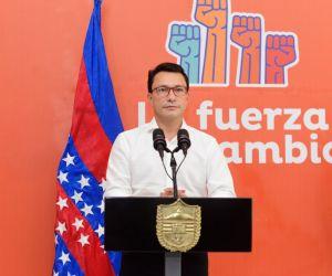Carlos Caicedo, durante la intervención de prensa.