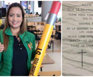 Rosita Jiménez, dirigente del Partido Verde.
