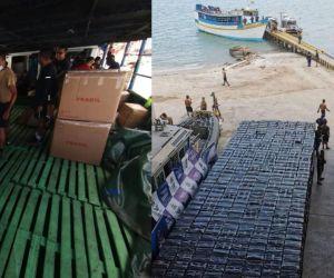 Mercancía de contrabando incautada por la Armada en Córdoba.