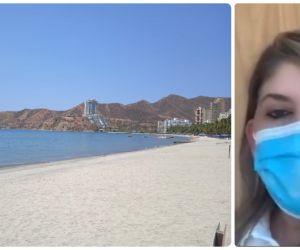 Virna Johnson solicitará el cierre de playas en Santa Marta.
