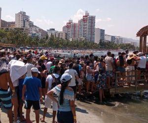 Masivas aglomeraciones en la mañana de este sábado en El Rodadero.