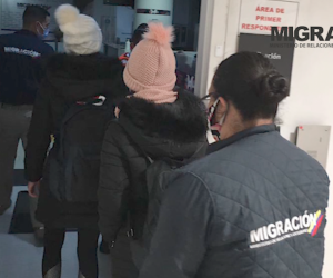 Las dos mujeres rescatadas en Turquía.