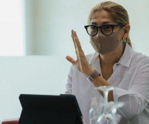 La secretaria de Salud, Alma Solano.