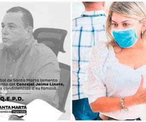 La alcaldesa Virna Johnso envió un mensaje póstumo por el fallecimiento de Jaime Linero.