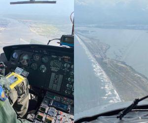 Patrullajes aéreos en el Caribe colombiano, durante esta Semana Santa.