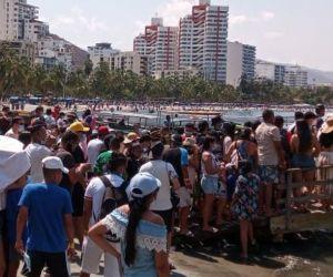 Turistas en Santa Marta.