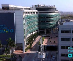 Sede de la clínica Portoazul, al norte de Barranquilla..