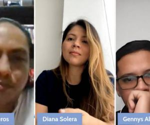 Stalin Ballesteros, Diana Solera y Gennys Álvarez.