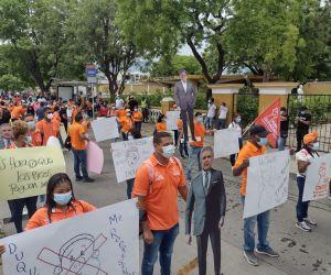 Imágenes de la marcha en Santa Marta.